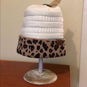 C.C Beanie leopard & cream